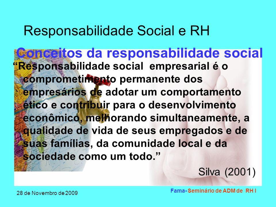 Conceitos da responsabilidade social