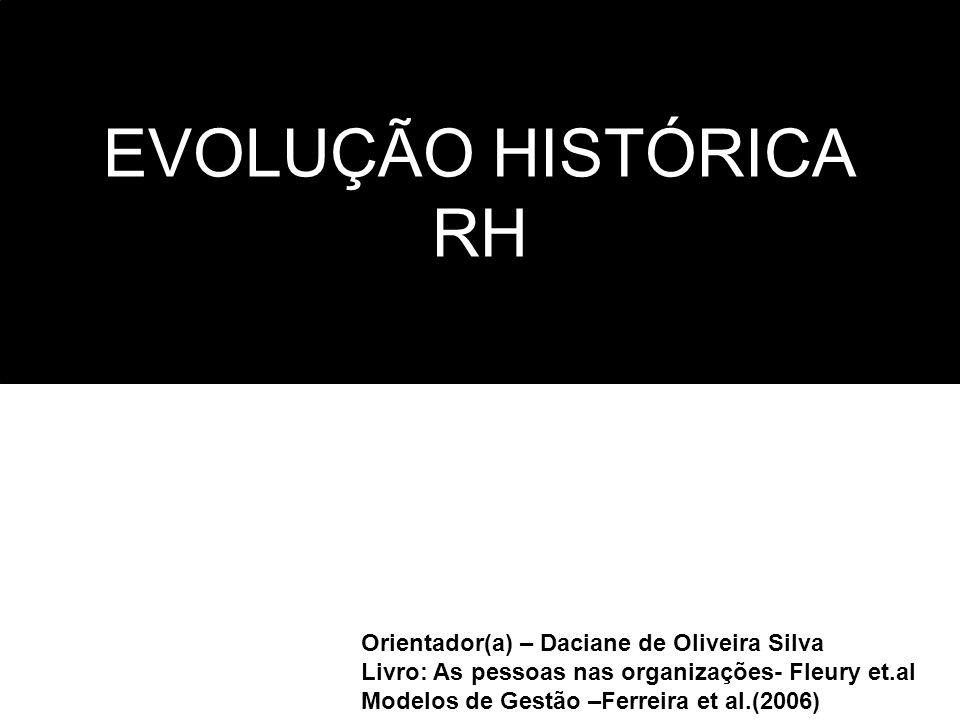 EVOLUÇÃO HISTÓRICA RH Orientador(a) – Daciane de Oliveira Silva