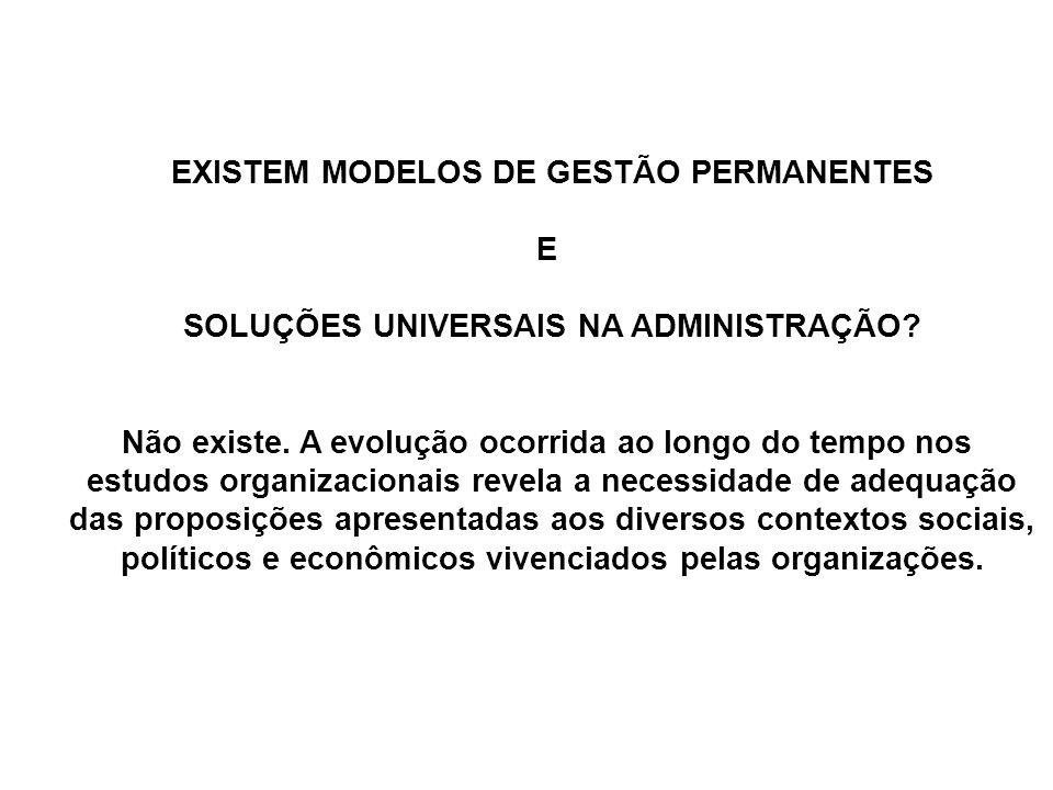 EXISTEM MODELOS DE GESTÃO PERMANENTES E