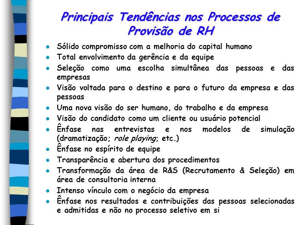 Principais Tendências nos Processos de Provisão de RH