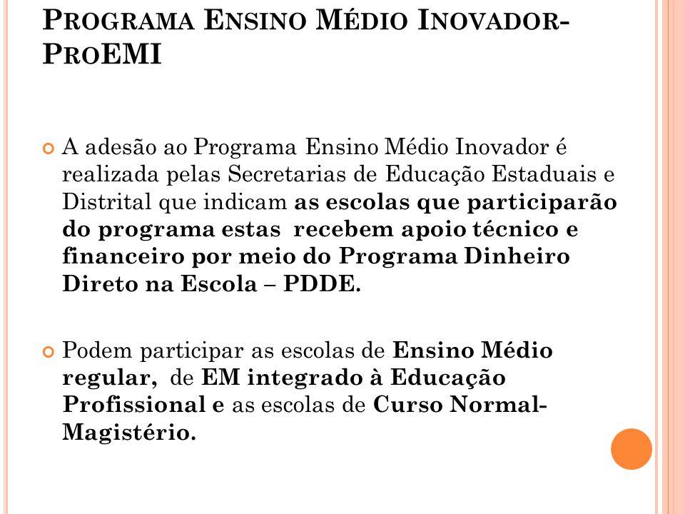 Programa Ensino Médio Inovador- ProEMI
