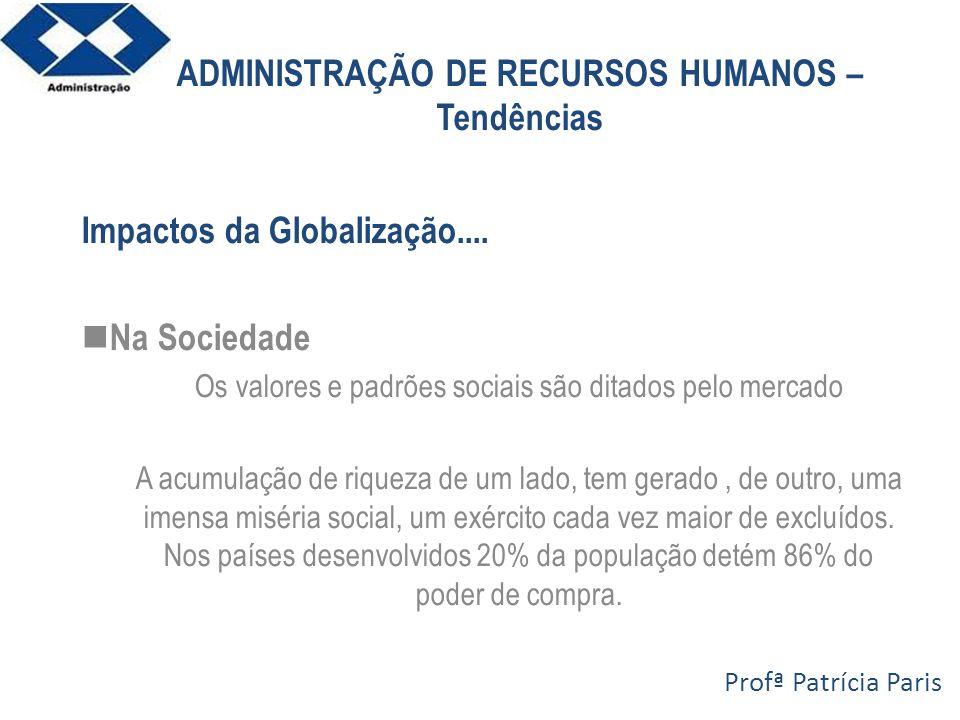 ADMINISTRAÇÃO DE RECURSOS HUMANOS – Tendências