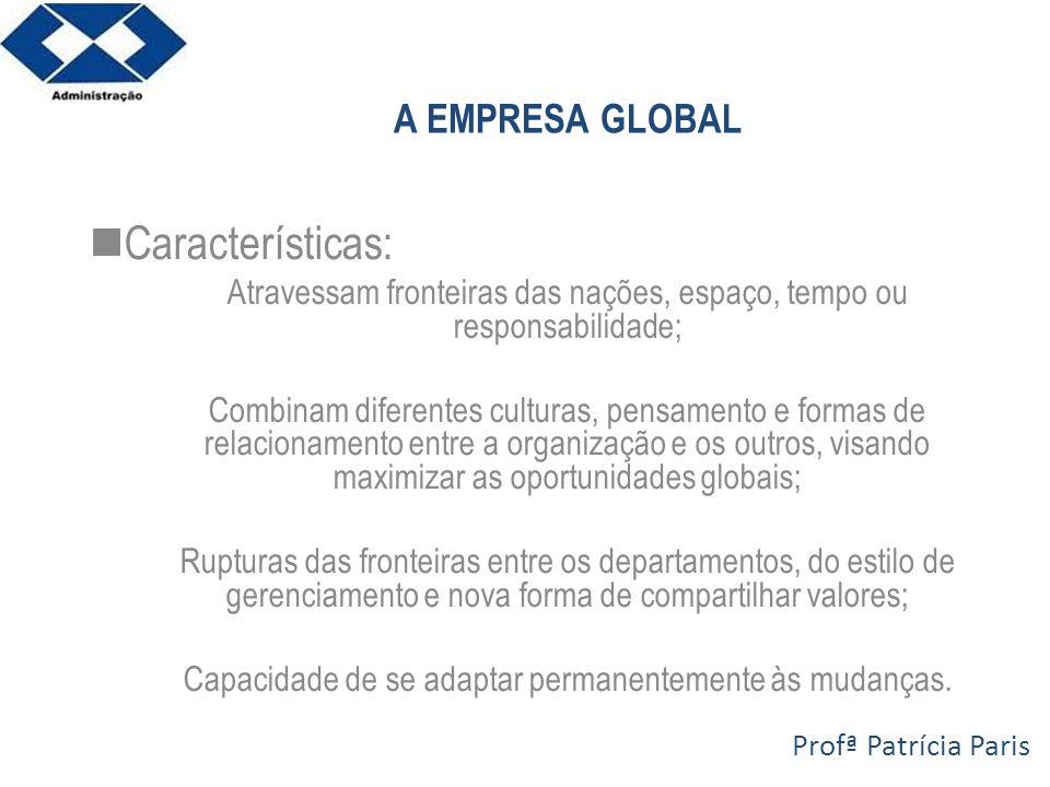 Características: A EMPRESA GLOBAL