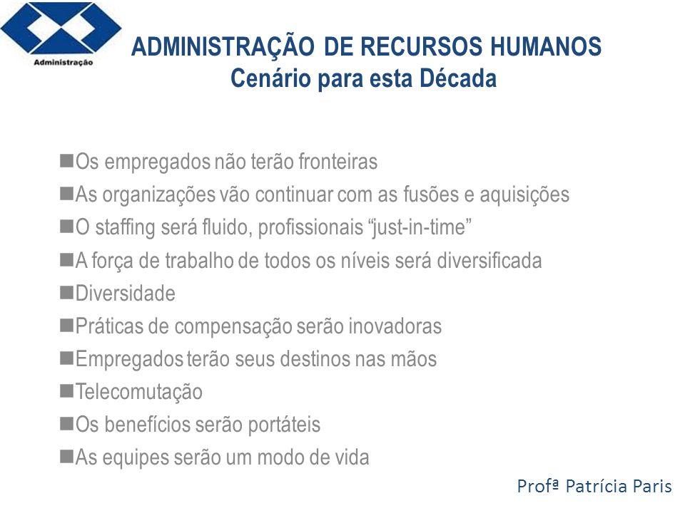 ADMINISTRAÇÃO DE RECURSOS HUMANOS Cenário para esta Década