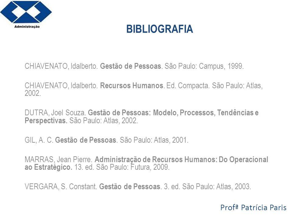 BIBLIOGRAFIA Profª Patrícia Paris