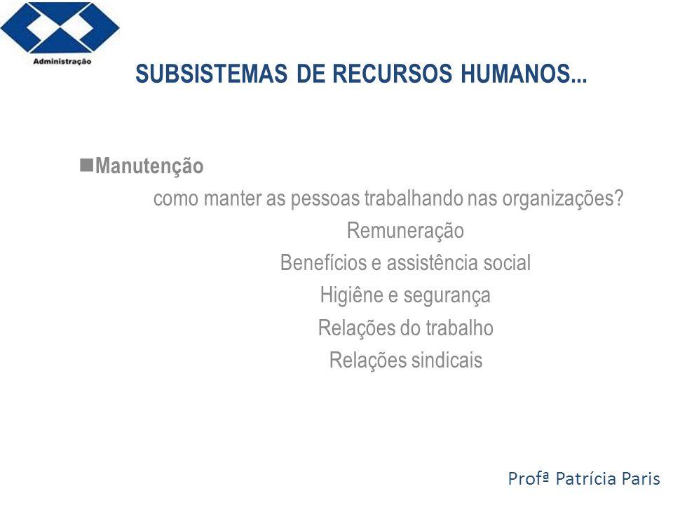 SUBSISTEMAS DE RECURSOS HUMANOS...