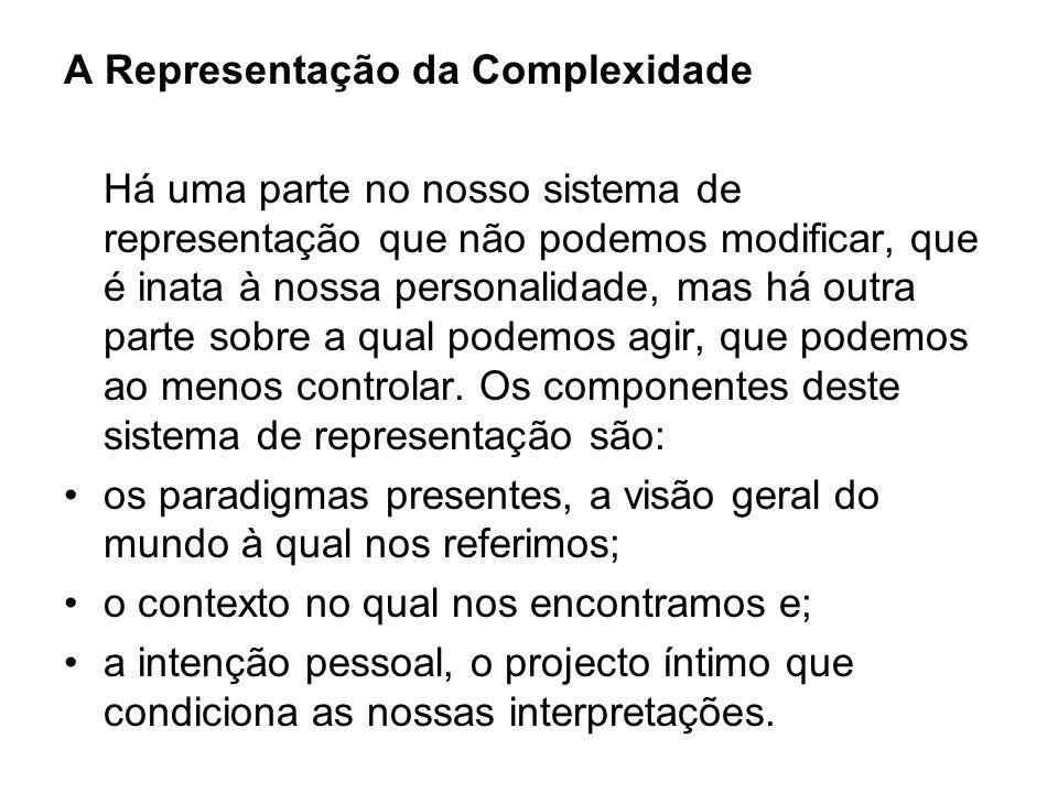A Representação da Complexidade