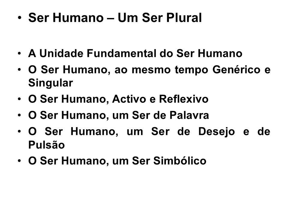 Ser Humano – Um Ser Plural