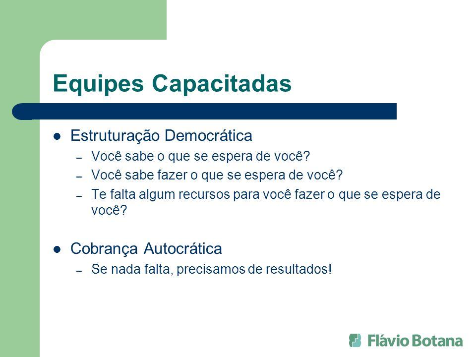 Equipes Capacitadas Estruturação Democrática Cobrança Autocrática