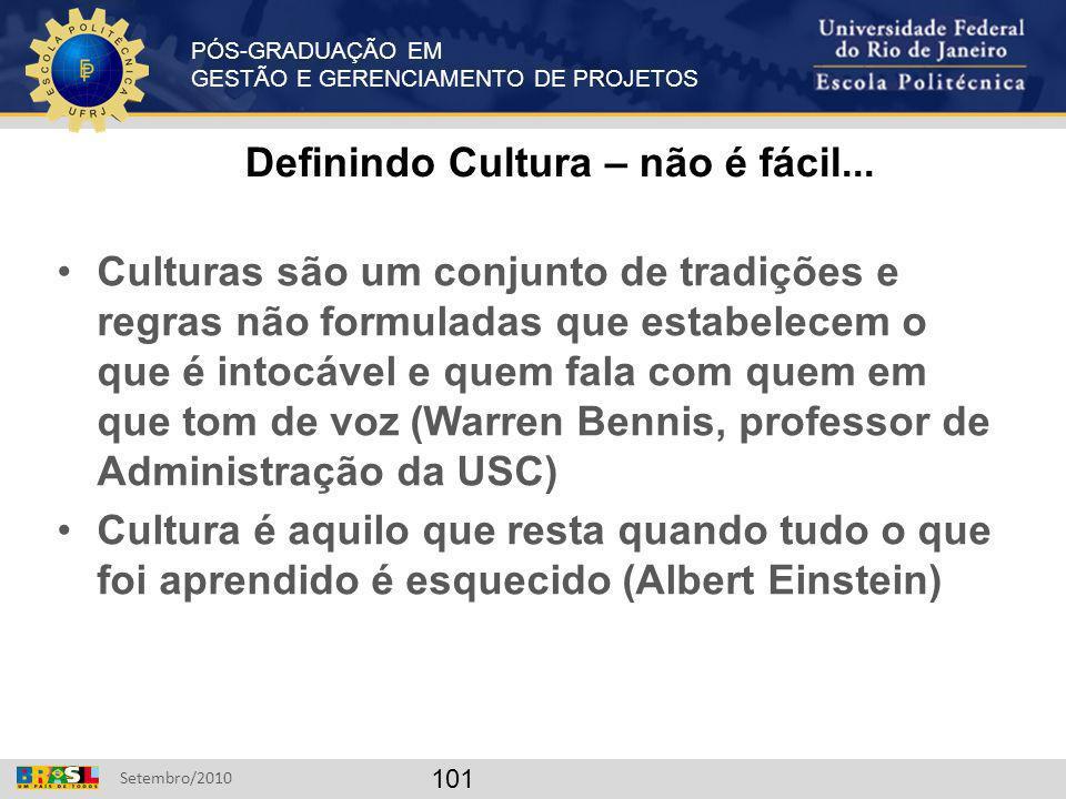 Definindo Cultura – não é fácil...