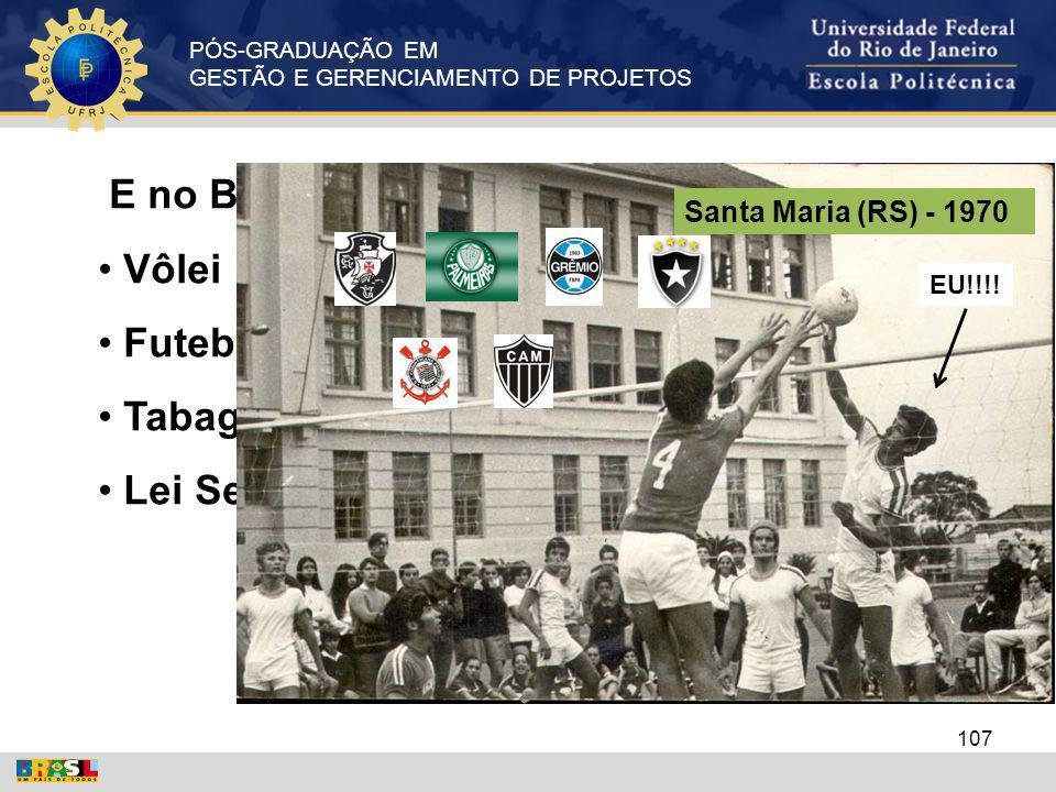 E no Brasil Vôlei Futebol Tabagismo Lei Seca Santa Maria (RS) - 1970