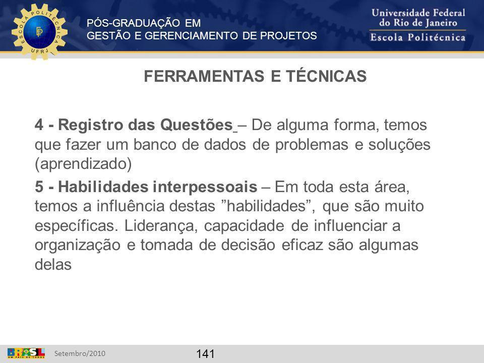 FERRAMENTAS E TÉCNICAS