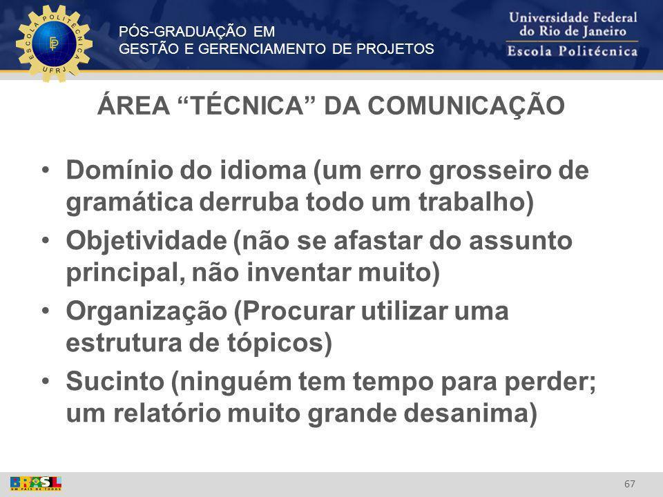 ÁREA TÉCNICA DA COMUNICAÇÃO