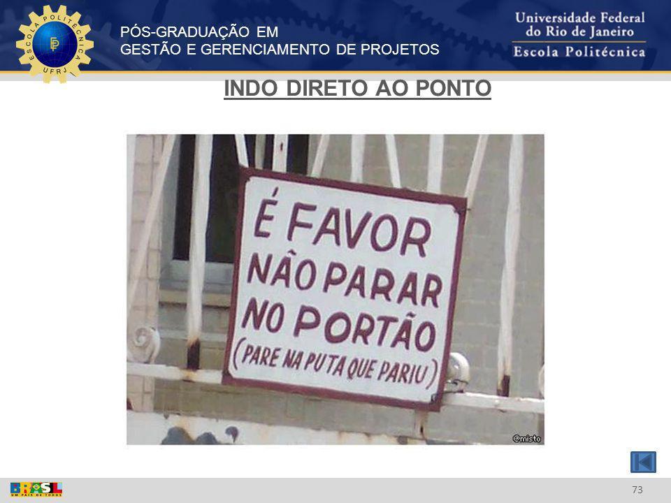 INDO DIRETO AO PONTO