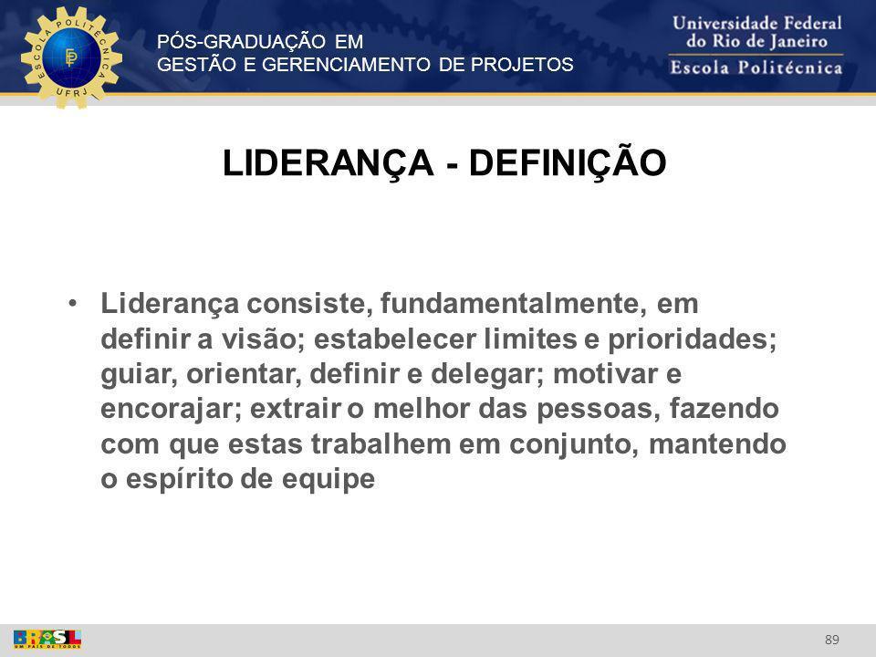 LIDERANÇA - DEFINIÇÃO