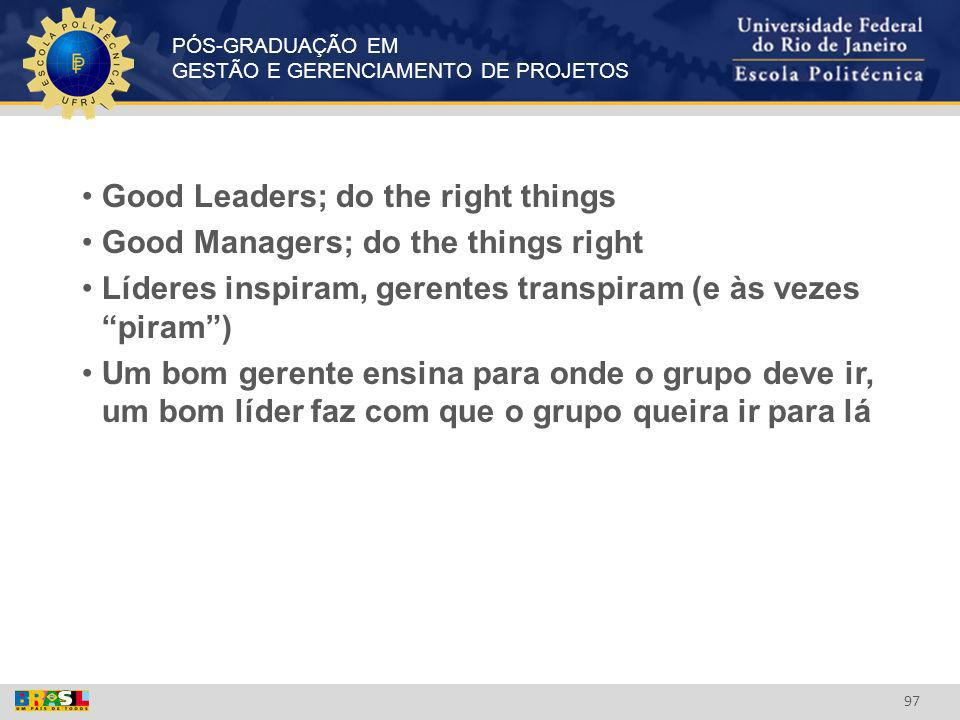 Good Leaders; do the right things