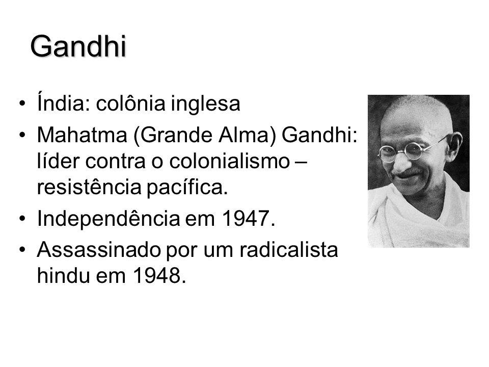Gandhi Índia: colônia inglesa