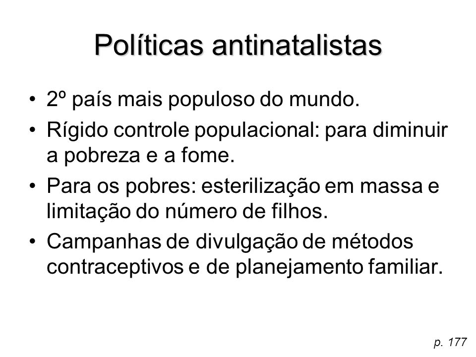 Políticas antinatalistas
