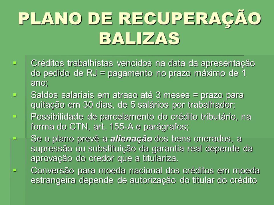 PLANO DE RECUPERAÇÃO BALIZAS