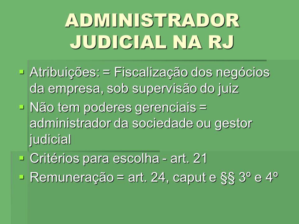 ADMINISTRADOR JUDICIAL NA RJ