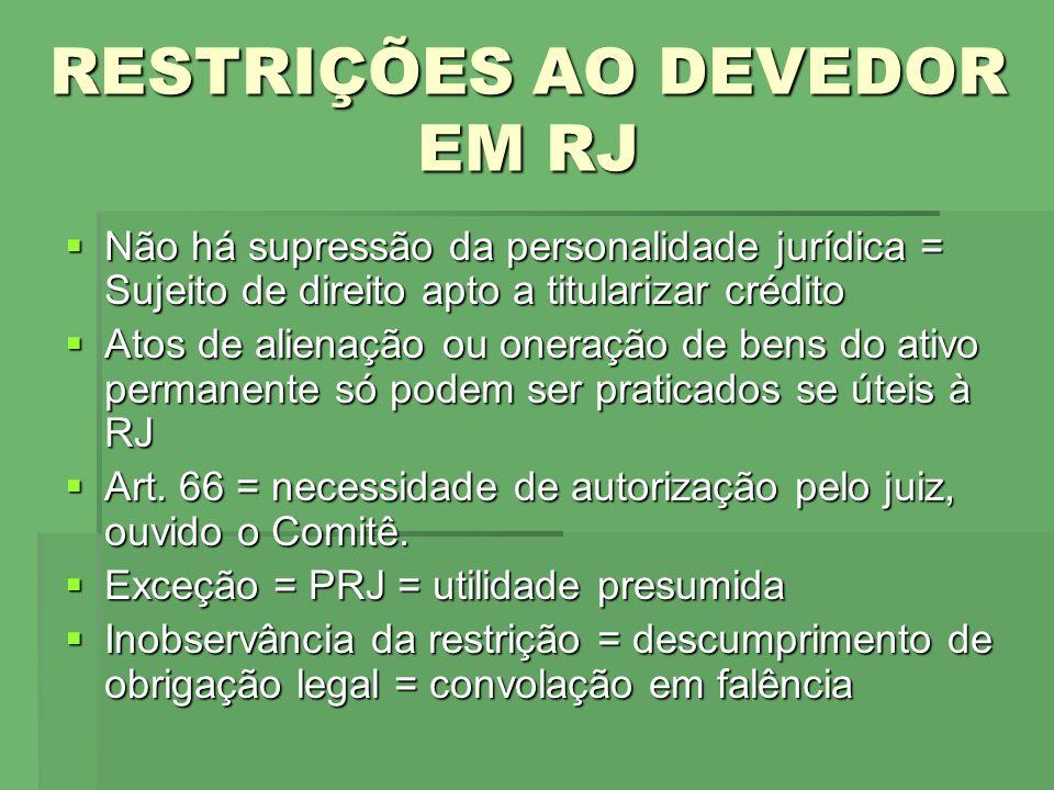 RESTRIÇÕES AO DEVEDOR EM RJ