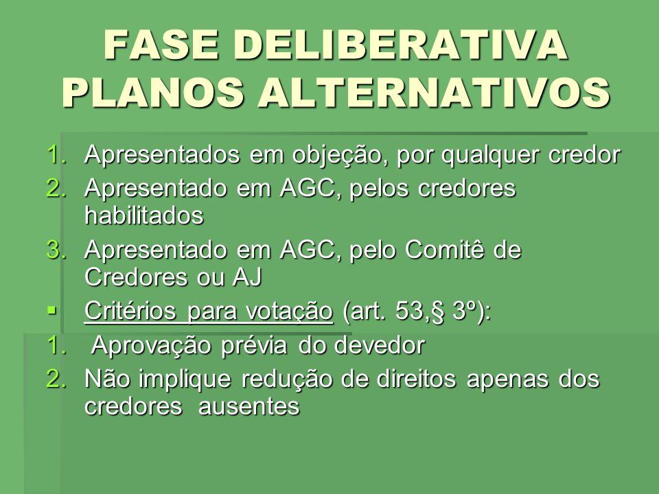 FASE DELIBERATIVA PLANOS ALTERNATIVOS