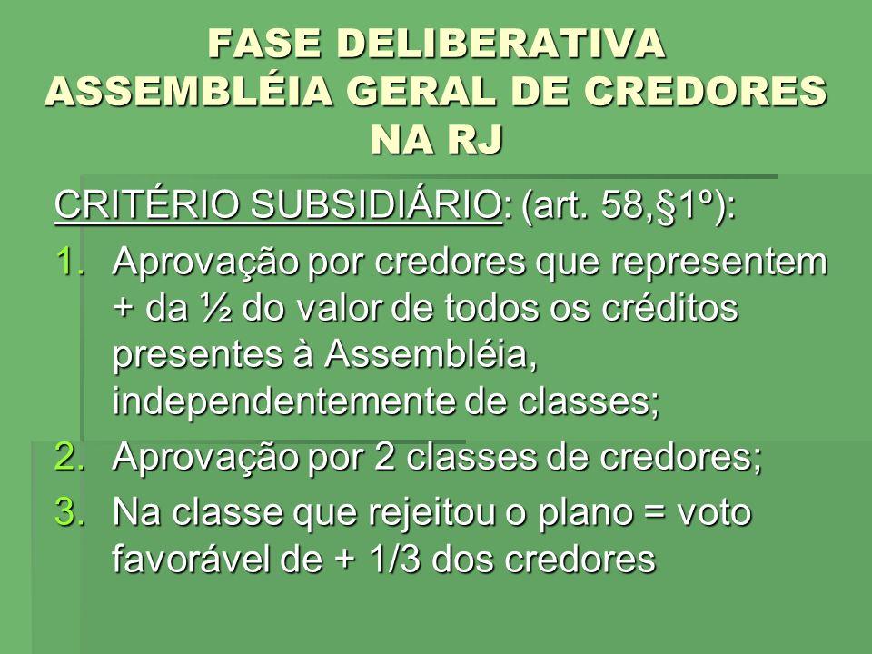 FASE DELIBERATIVA ASSEMBLÉIA GERAL DE CREDORES NA RJ