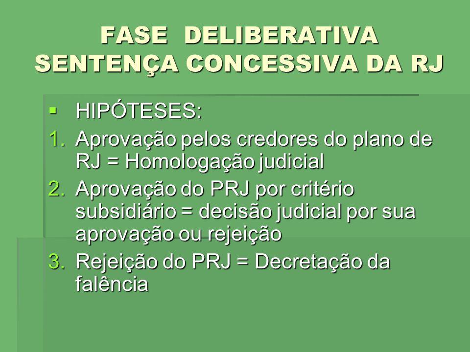 FASE DELIBERATIVA SENTENÇA CONCESSIVA DA RJ