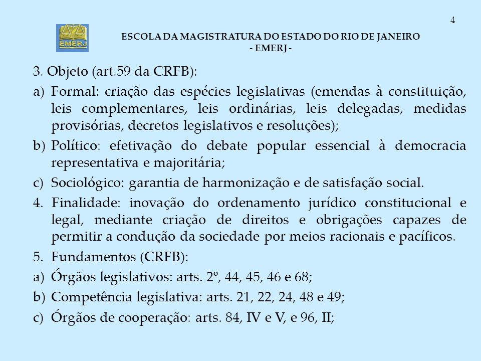 3. Objeto (art.59 da CRFB):
