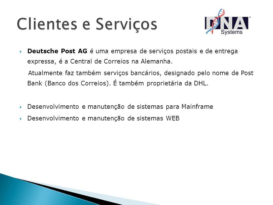 Clientes e Serviços Deutsche Post AG é uma empresa de serviços postais e de entrega expressa, é a Central de Correios na Alemanha.