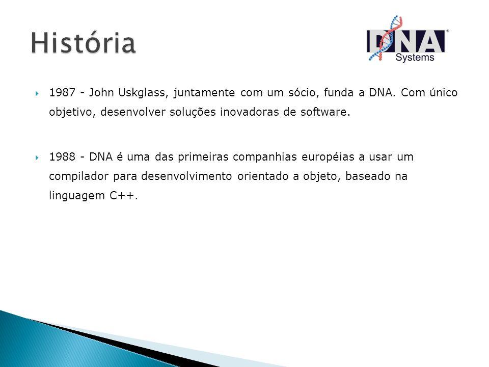 História 1987 - John Uskglass, juntamente com um sócio, funda a DNA. Com único objetivo, desenvolver soluções inovadoras de software.