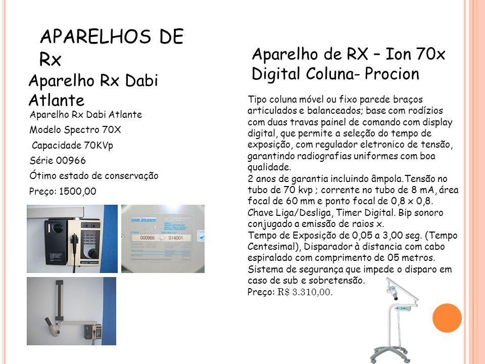 APARELHOS DE Rx Aparelho de RX – Ion 70x Digital Coluna- Procion