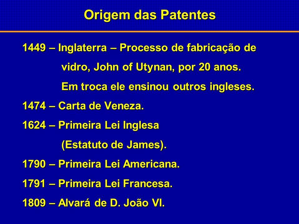 Origem das Patentes 1449 – Inglaterra – Processo de fabricação de