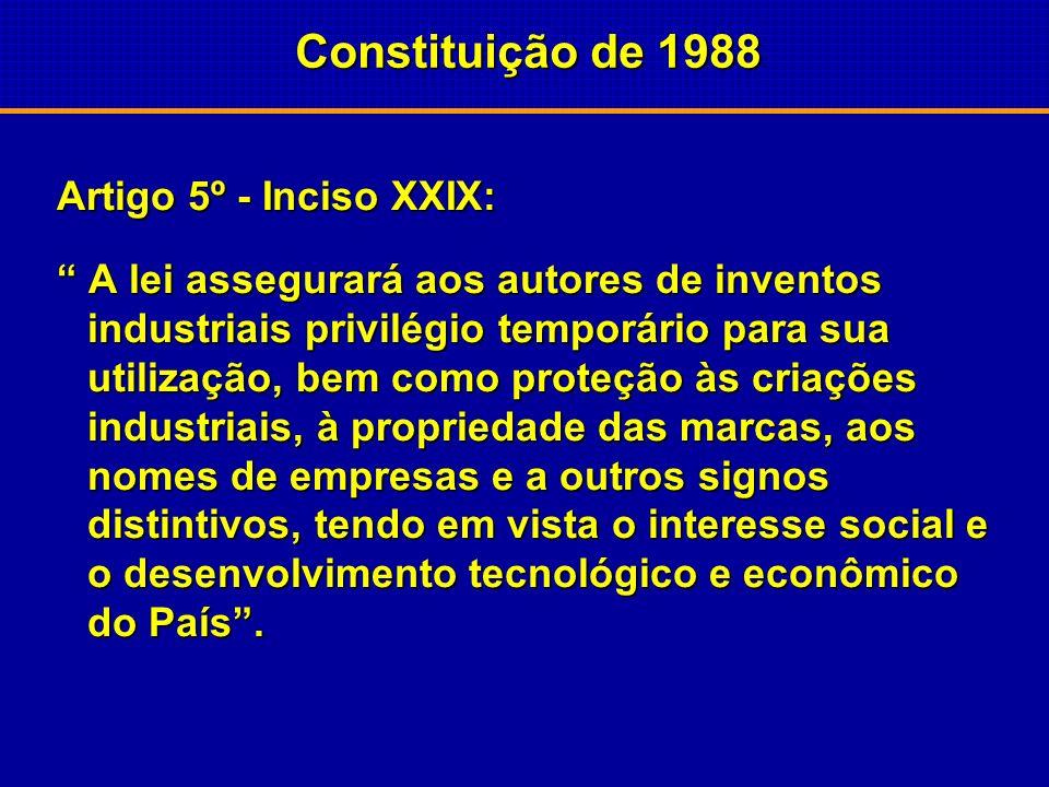 Constituição de 1988 Artigo 5º - Inciso XXIX: