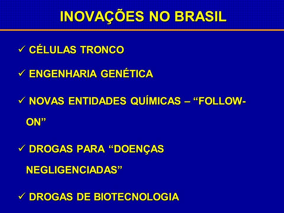 INOVAÇÕES NO BRASIL CÉLULAS TRONCO ENGENHARIA GENÉTICA