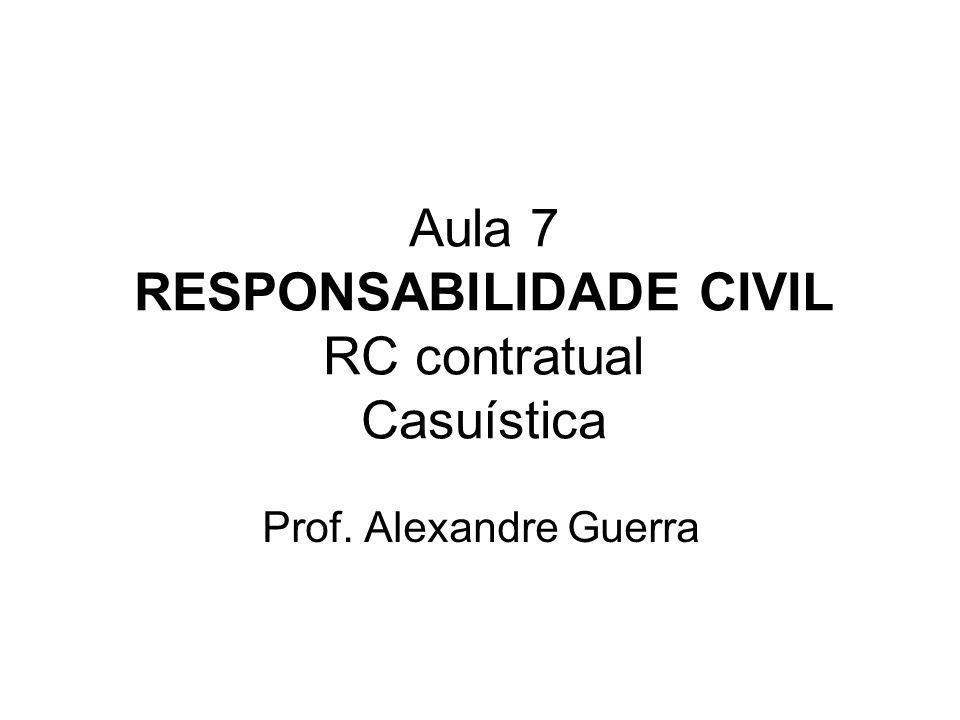 Aula 7 RESPONSABILIDADE CIVIL RC contratual Casuística