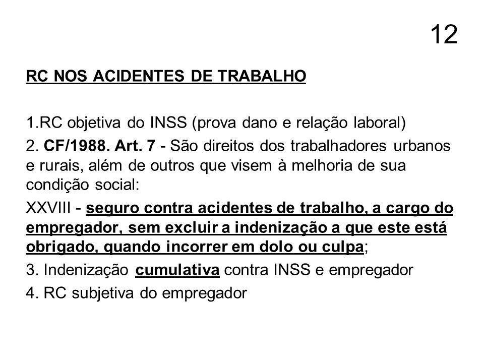 12 RC NOS ACIDENTES DE TRABALHO