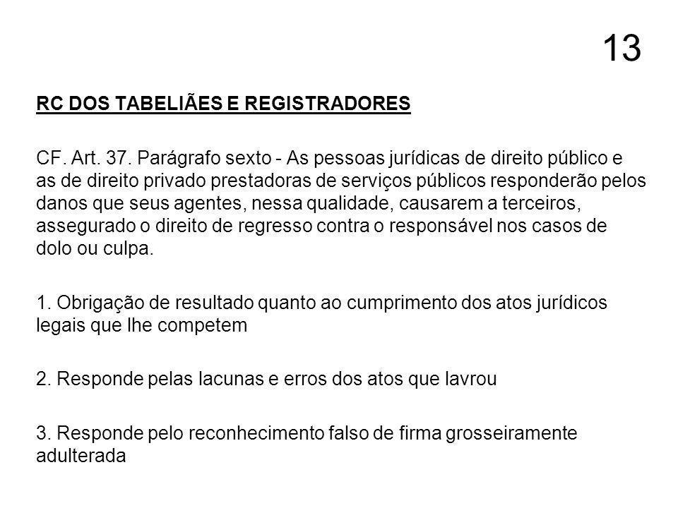 13 RC DOS TABELIÃES E REGISTRADORES