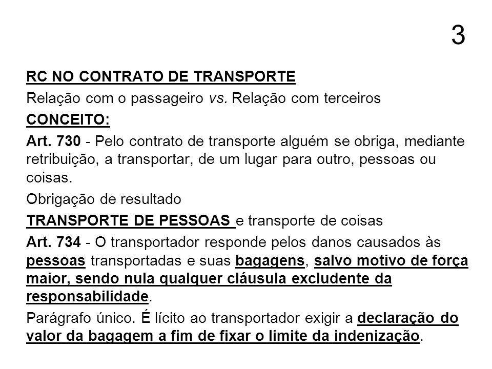 3 RC NO CONTRATO DE TRANSPORTE