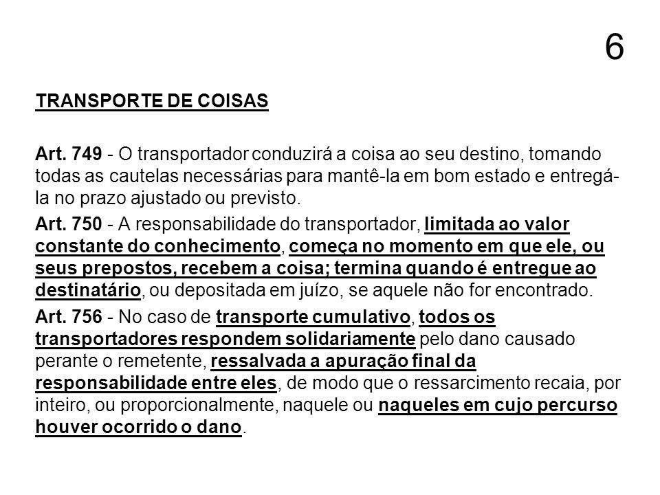 6 TRANSPORTE DE COISAS.