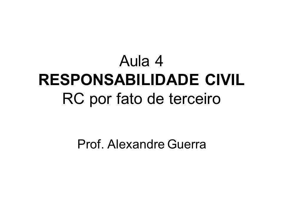 Aula 4 RESPONSABILIDADE CIVIL RC por fato de terceiro