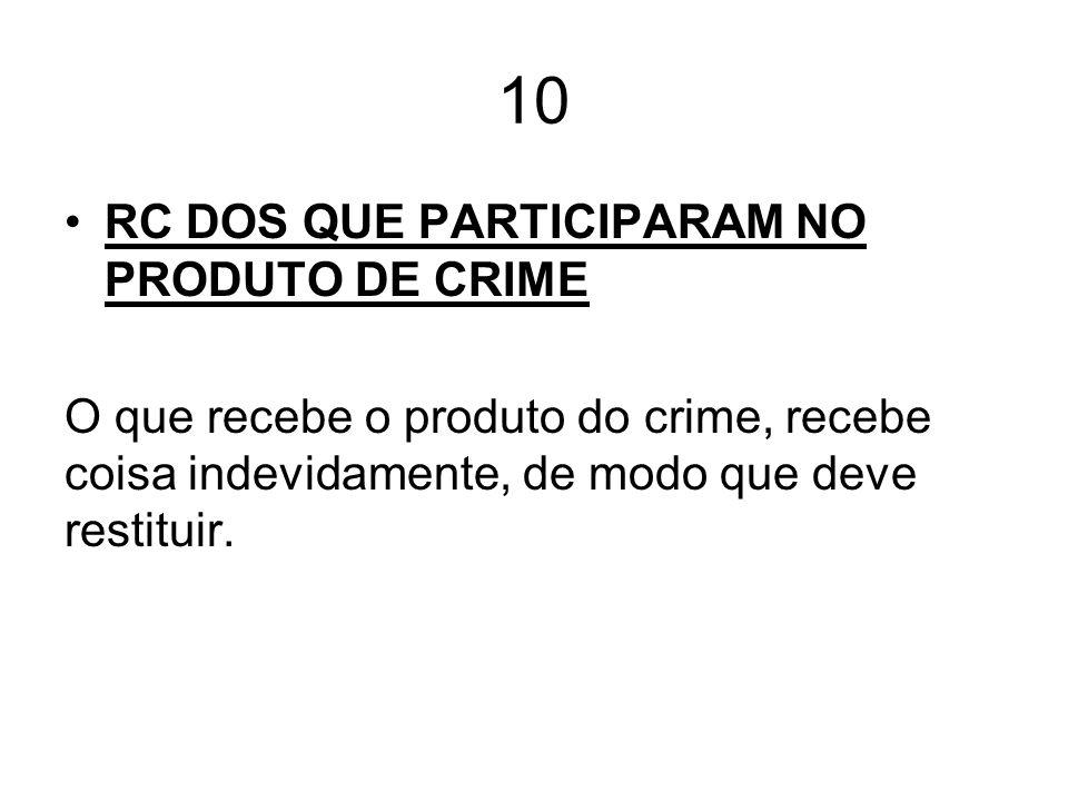 10 RC DOS QUE PARTICIPARAM NO PRODUTO DE CRIME
