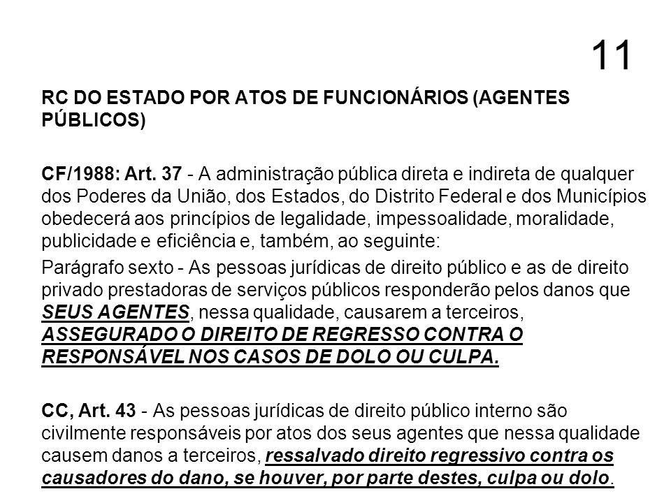 11 RC DO ESTADO POR ATOS DE FUNCIONÁRIOS (AGENTES PÚBLICOS)
