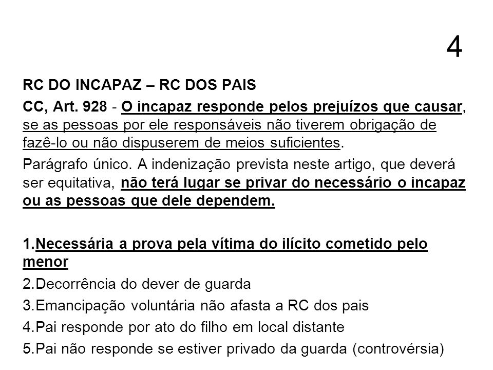 4 RC DO INCAPAZ – RC DOS PAIS