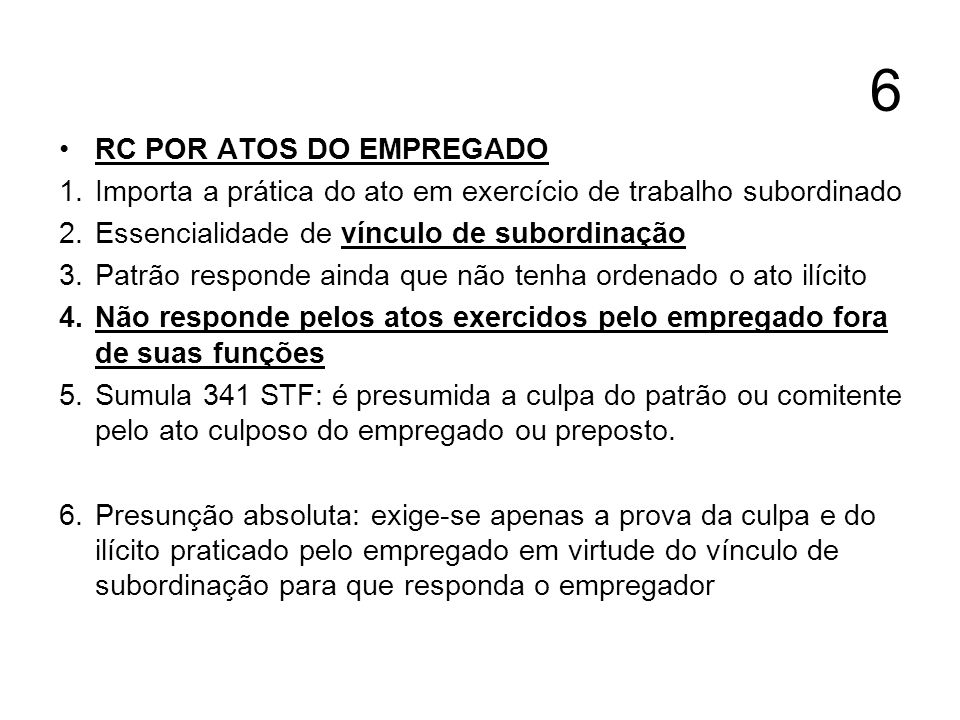 6 RC POR ATOS DO EMPREGADO