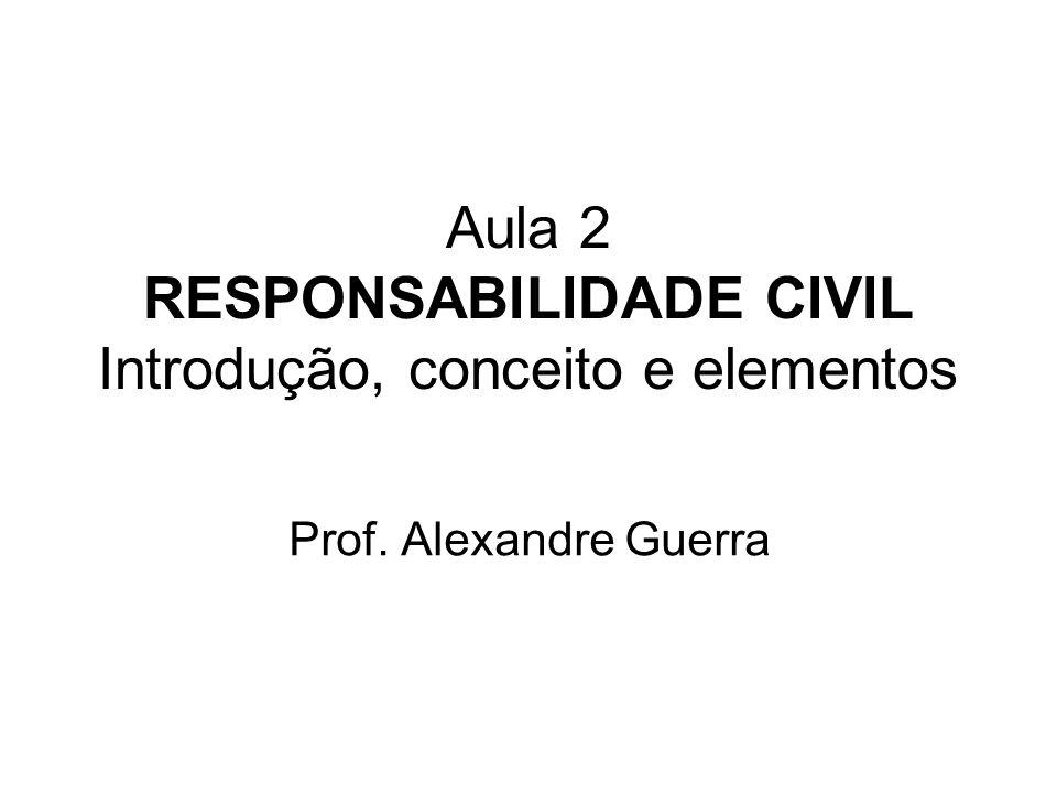 Aula 2 RESPONSABILIDADE CIVIL Introdução, conceito e elementos