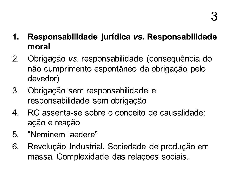 3 Responsabilidade jurídica vs. Responsabilidade moral
