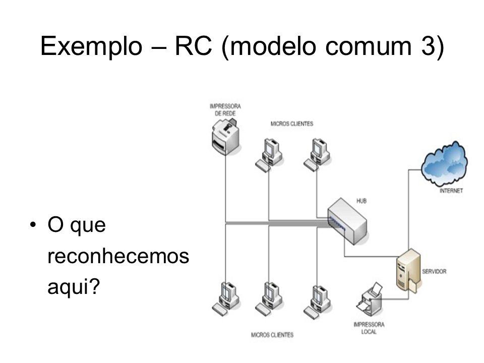 Exemplo – RC (modelo comum 3)