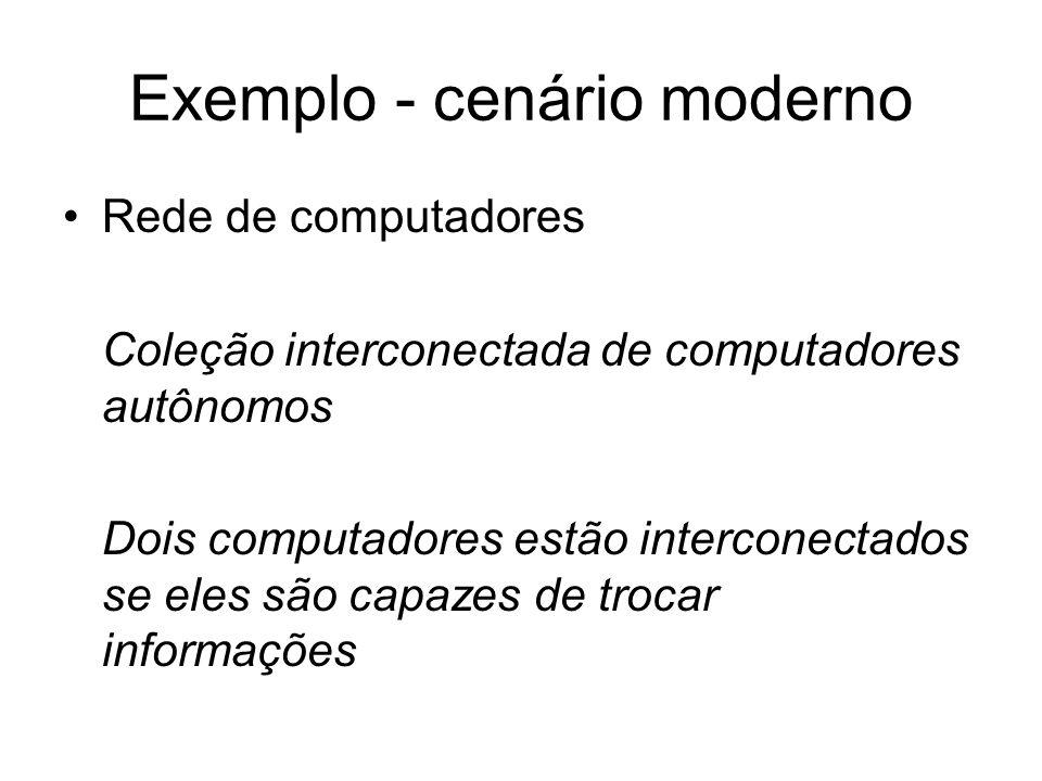 Exemplo - cenário moderno