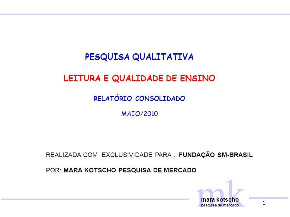 LEITURA E QUALIDADE DE ENSINO RELATÓRIO CONSOLIDADO